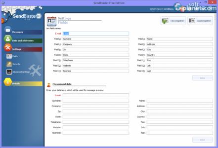 Sendblaster Free Edition Screenshot4