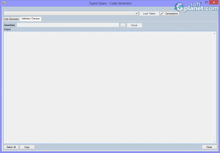 Typed Query – Code Generator Screenshot2