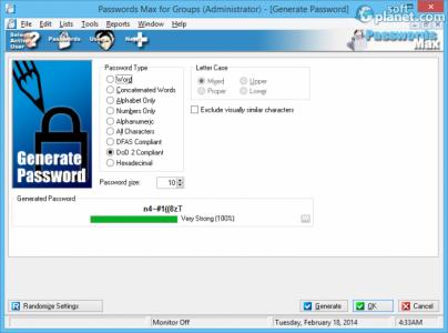Passwords Max for Groups Screenshot3