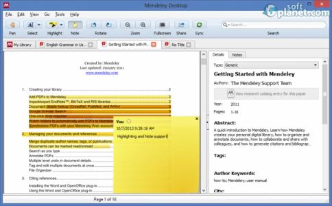 Mendeley Desktop Screenshot2
