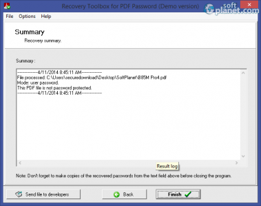 Recovery Toolbox for PDF Password Screenshot3