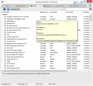 System Explorer Screenshot3