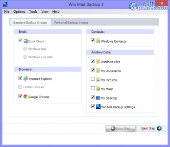 Win Mail Backup Screenshot3