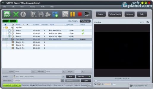 Full DVD Ripper Free Screenshot2