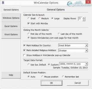 WinCalendar Screenshot2