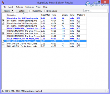 dupeGuru Music Edition Screenshot2