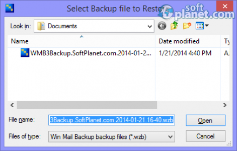 Win Mail Backup Screenshot4