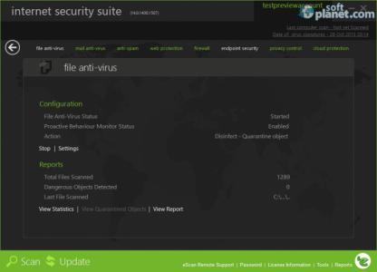 eScan Internet Security Suite Screenshot2