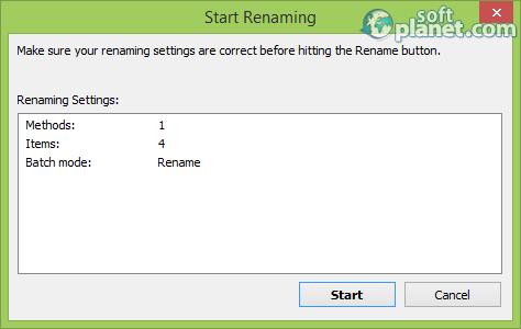 Advanced Renamer Screenshot4