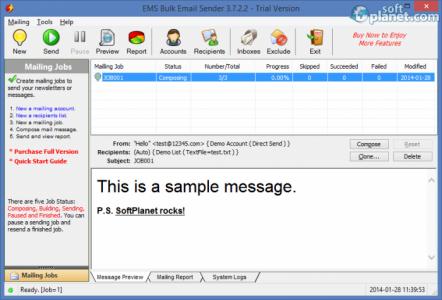 EMS Bulk Email Sender Screenshot2