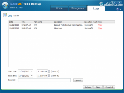 EASEUS Todo Backup Server Screenshot3