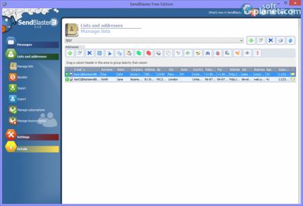 Sendblaster Free Edition Screenshot3