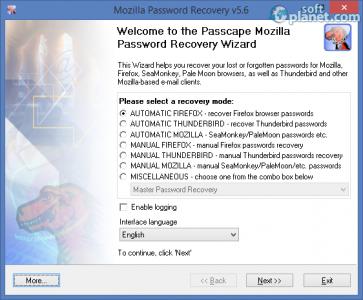 Mozilla Password Recovery Screenshot2