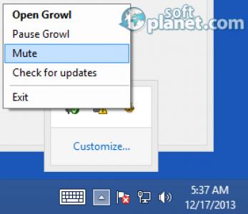 Growl for Windows Screenshot4