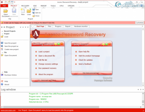 Access Password Recovery 1.4.0.80