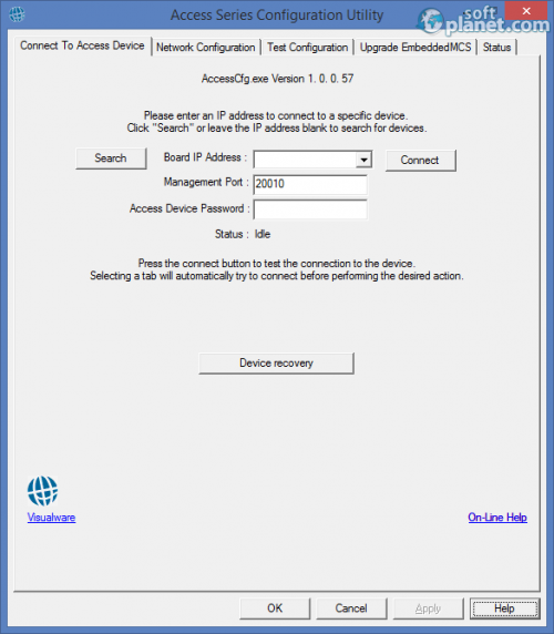 Access Series Configuration Utility 1.0.0.57