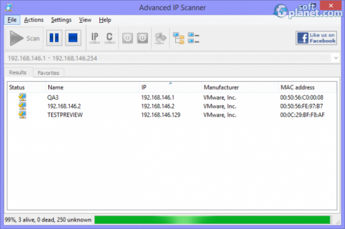 Advanced IP Scanner 2.3.2161