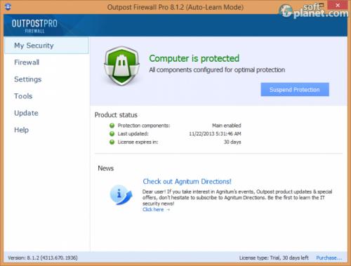 Agnitum Outpost Firewall Pro 8.1.2