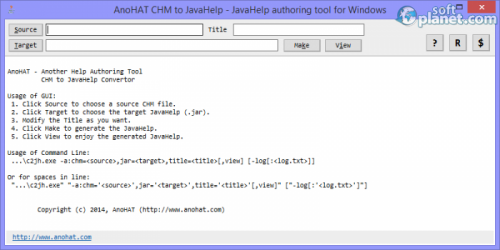 AnoHAT CHM to JavaHelp 2.0.0.0