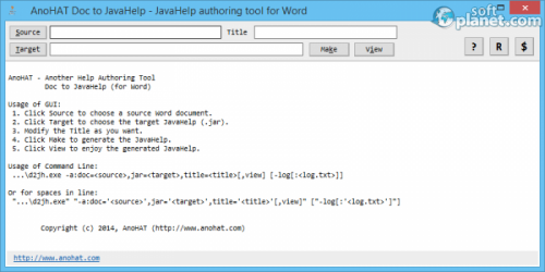 AnoHAT Doc to JavaHelp 4.0.0.0