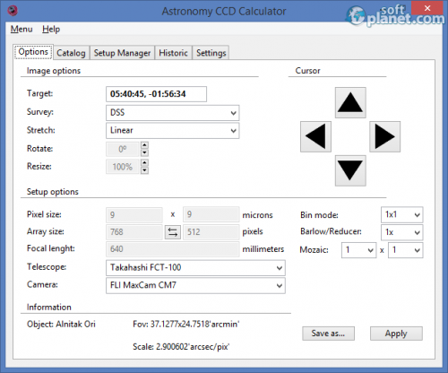 Astronomy CCD Calculator 3.6 3.6