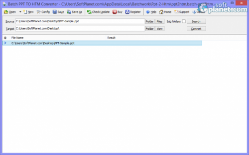 Batch PPT TO HTM Converter 2014.6.116.1195
