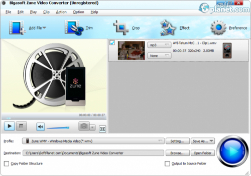 Bigasoft Zune Video Converter 3.7.50.5067