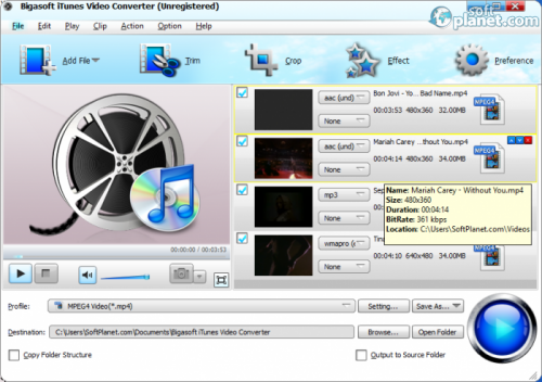 Bigasoft iTunes Video Converter 3.7.50.5067