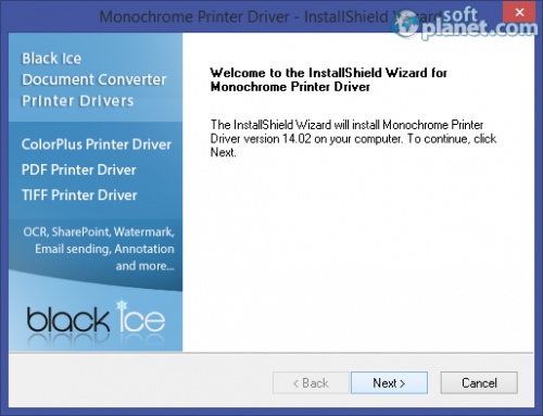 Black Ice Monochrome Printer Driver 14.02