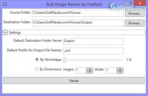 Bulk Image Resizer 1.0.0.0