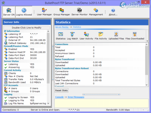 BulletProof FTP Server 2013.1.0.11