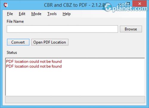 CBR and CBZ to PDF 2.1.2.8