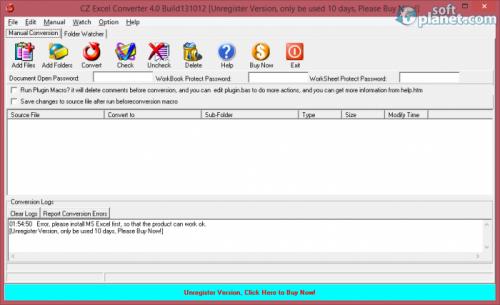 CZ Excel Converter 4.0 Build 130902