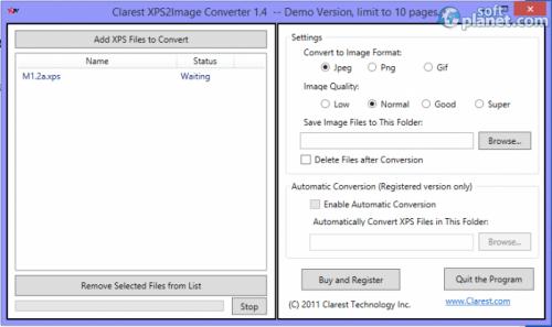 Clarest XPS2Image Converter 1.4.3