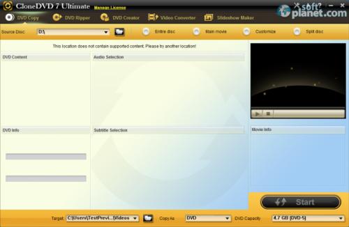 CloneDVD 7 Ultimate 7.0.0.10