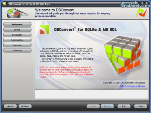 DBConvert for SQLite and MSSQL 1.5.5