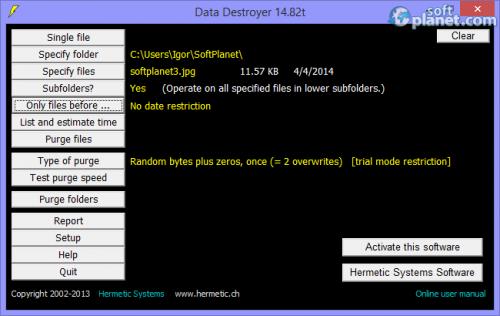 Data Destroyer 14.82t