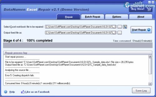 DataNumen Excel Repair 2.1
