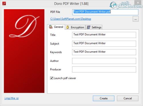 Doro PDF Writer 1.92