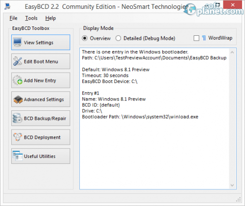 EasyBCD Community Edition 2.2.0.182