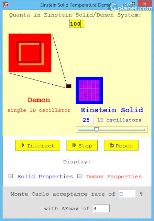 Einstein Solid Temperature Demon 1.0