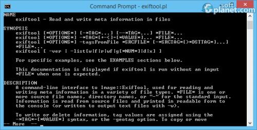 ExifTool 9.50