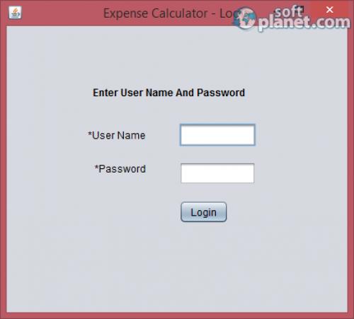 Expense Calculator 1.0