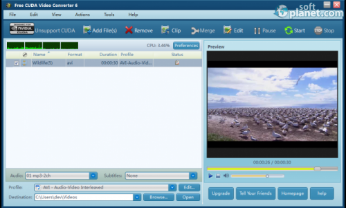 Free CUDA Video Converter 6.9