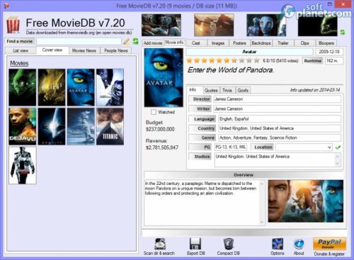 Free MovieDB 7.20