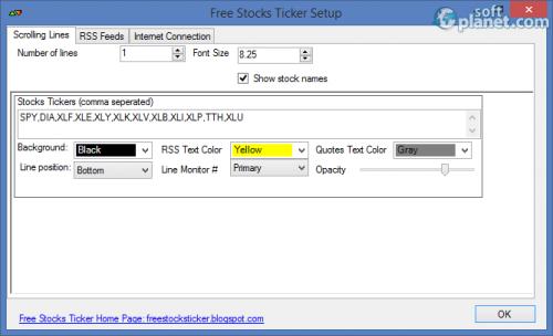 Free Stocks Ticker 1.8.8