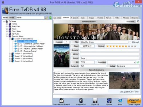Free TvDB 4.98