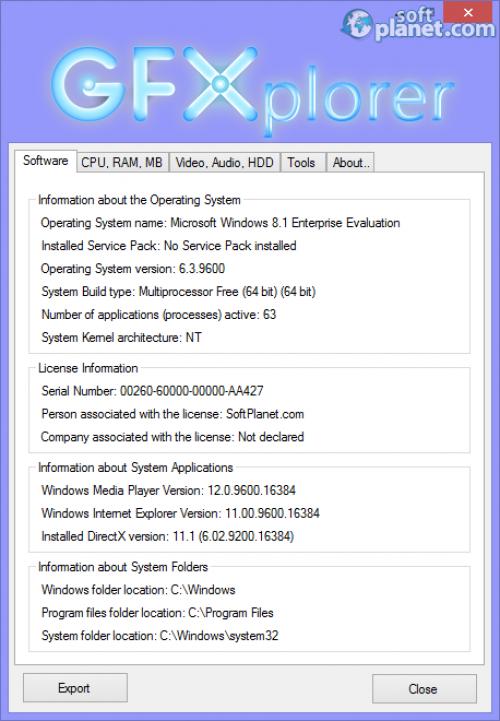GFXplorer 3.7.0.1050