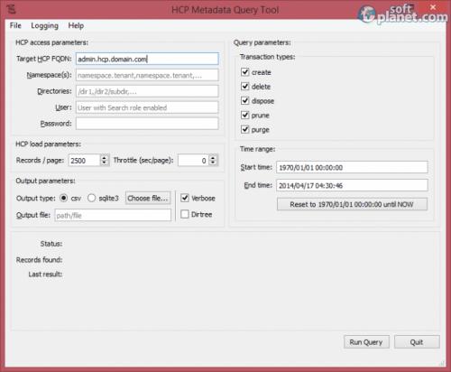 HCP Metadata Query Tool 1.0.10