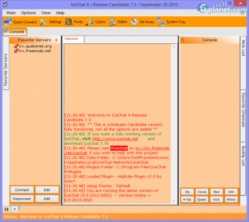 IceChat 9.7 RC7.3